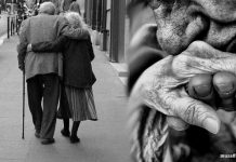 Yolda Yürüyen Yaşlı Aşıklar